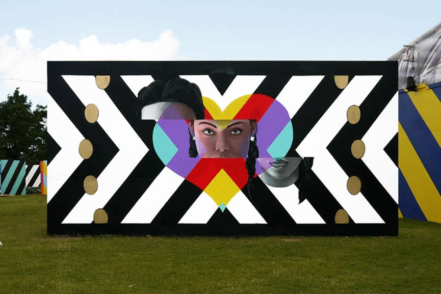 INSA gif-fiti installation in Art Zone