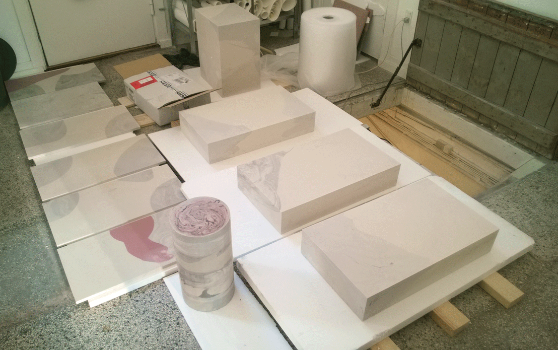 Making of Jesmonite interior elements