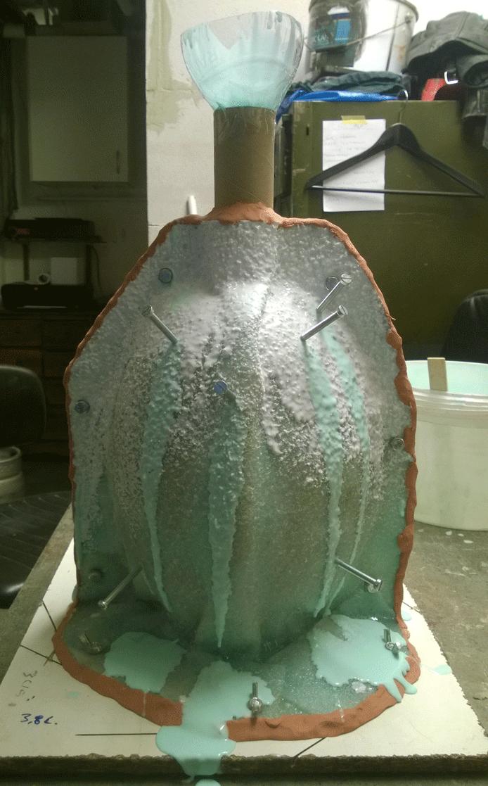 Matrix form fyldes med silikone