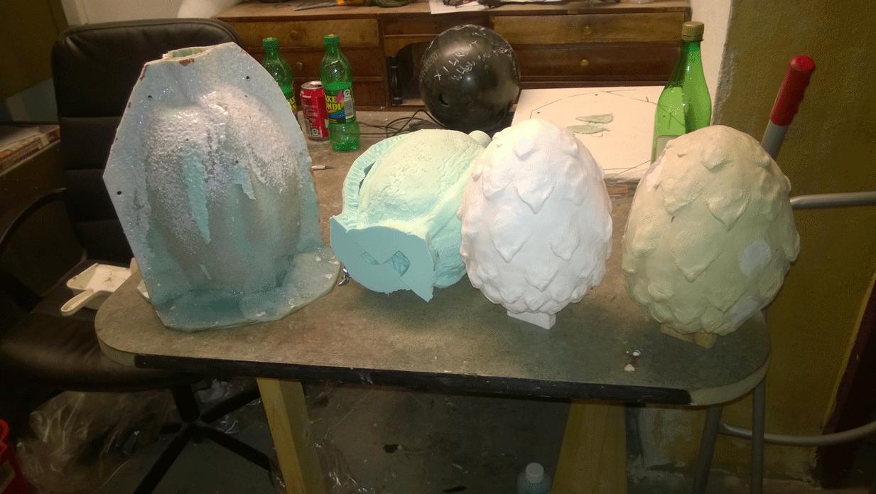 Støtteform, silikoneform, resin kopi, master model